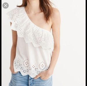 One shoulder ruffle top